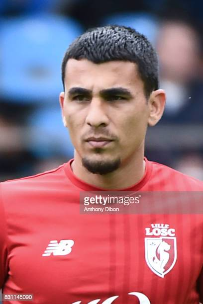 Junior Alonso of Lille during the Ligue 1 match between Racing Club Strasbourg and Lille OSC at Stade de la Meinau on August 13 2017 in Strasbourg