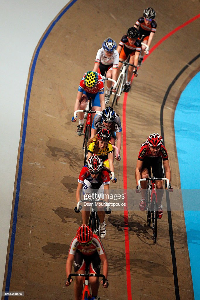 Junior cyclists compete during the Rotterdam 6 Day Cycling at Ahoy Rotterdam on January 6, 2013 in Rotterdam, Netherlands.