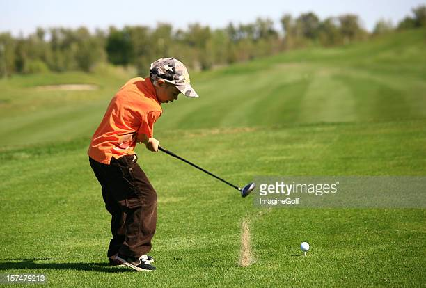 Junior Golf Teeing Off