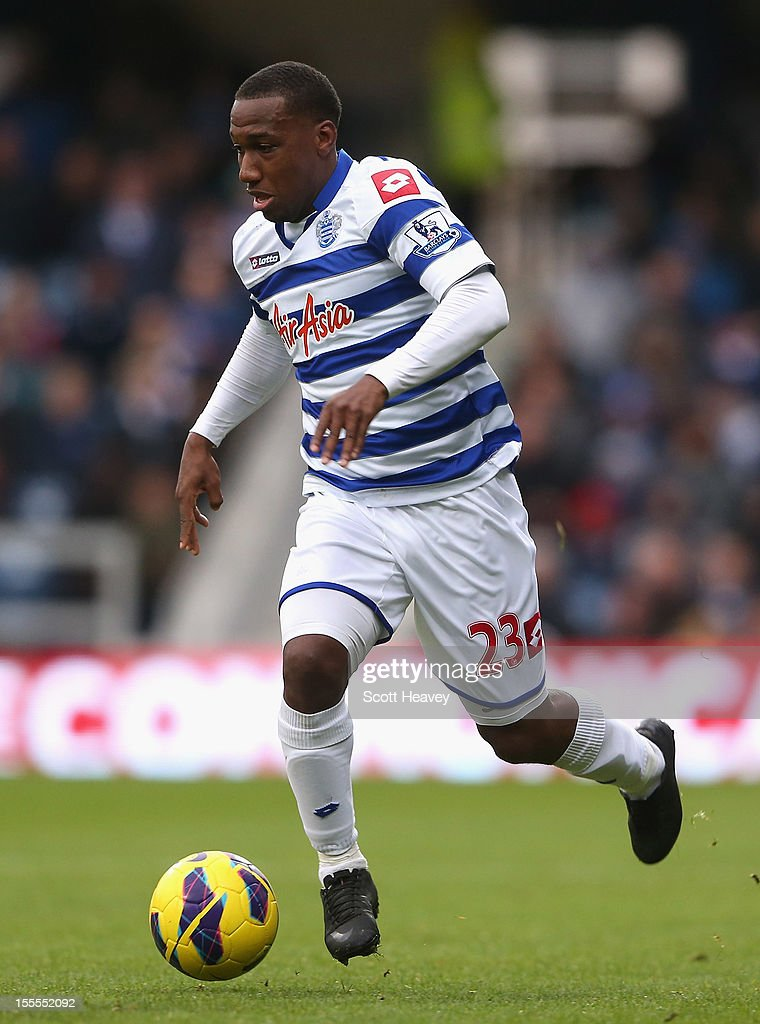 Junior Hoilett of Queens Park Rangers in action during the Barclays Premier League match between Queens Park Rangers and Reading at Loftus Road on November 4, 2012 in London, England.