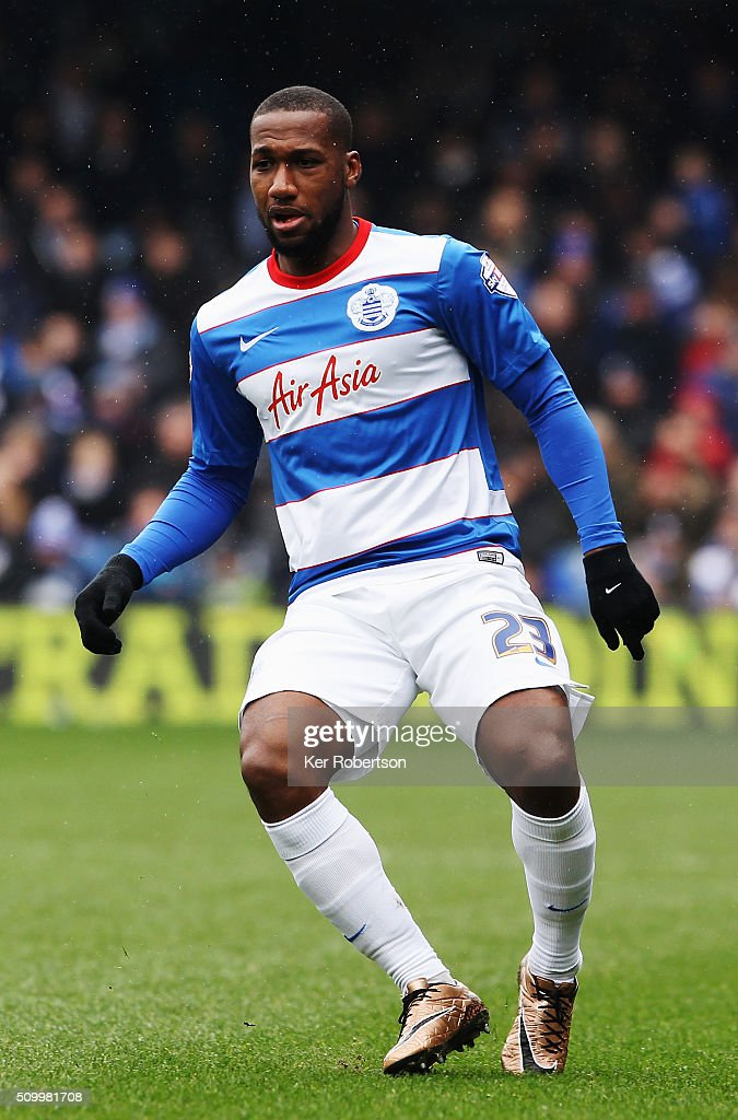 Junior Hoilett of Queens Park Rangers in action during the Sky Bet Championship match between Queens Park Rangers and Fulham at Loftus Road on February 13, 2016 in London, United Kingdom.