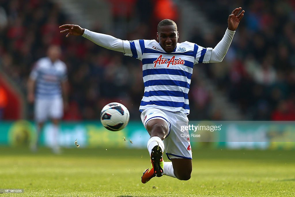 Junior Hoilett of Queens Park Rangers stretches for the ball during the Barclays Premier League match between Southampton and Queens Park Rangers at St Mary's Stadium on March 2, 2013 in Southampton, England.