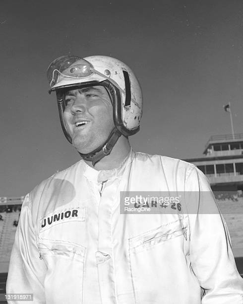 Junior Johnson gets prepared for the start of the American 500 NASCAR Cup race at the new North Carolina Motor Speedway Johnson started from the...