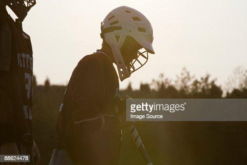 Junior lacrosse player