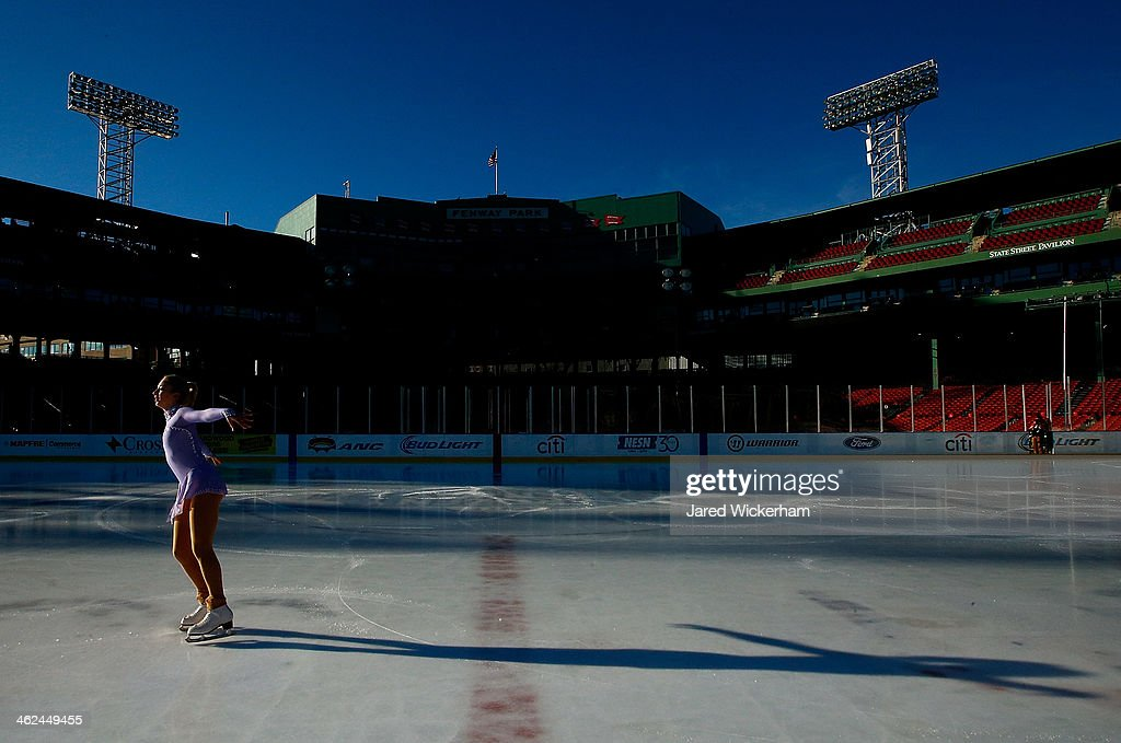 Junior Ladies Champion, Amber Glen, performs her routine during the figure skating show as part of the Citi Frozen Fenway events at Fenway Park on January 13, 2014 in Boston, Massachusetts.