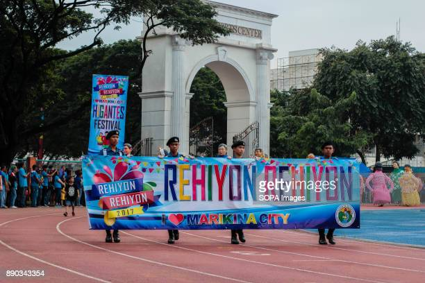 PHILIPPINES MARIKINA NCR PHILIPPINES Junior Police carried the welcoming banner and opened the ceremony of Rehiyon Rehiyon Festival The Biggest...