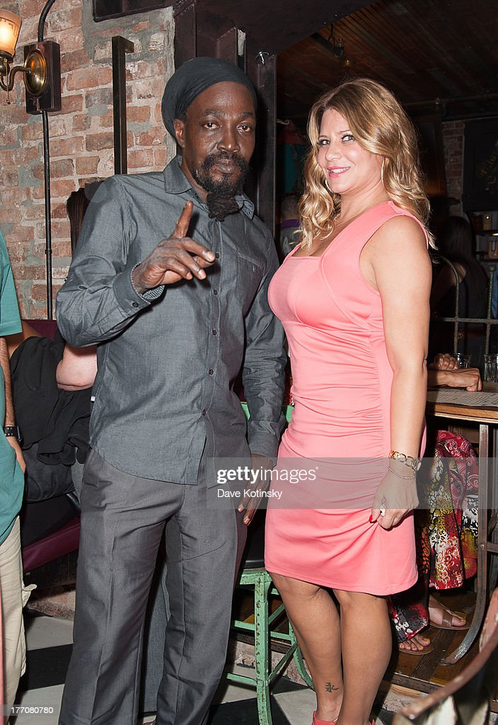 Junior Reid and Karen Gravano visit 'On The Spot With Dr.G' at Preserve 24 on August 20, 2013 in New York City.