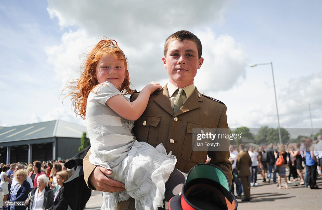 Junior Soldiers are reunited with family, friends and loved ones following their graduation parade on August 15, 2013 in Harrogate, England. The Army Foundation College in Harrogate opened in 1998 and provides training for soldiers destined for all the Army's career paths and provides training for 1344 junior soldiers. During their time at the college the students are taught basic military skills and can achieve vocational qualifications, City and Guilds apprenticeships and take part in the Duke of Edinburgh Award Scheme. The graduation parade is the largest in Europe and is only exceeded in size by the Trooping of the Colour in London. Following the parade the students will go on for further specialist training before finally joining their units and moving forward with their military careers.