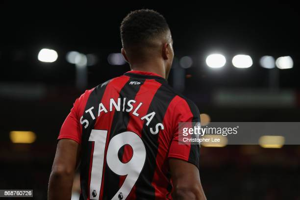 Junior Stanislas of AFC Bournemouth in action during the Premier League match between AFC Bournemouth and Chelsea at Vitality Stadium on October 28...