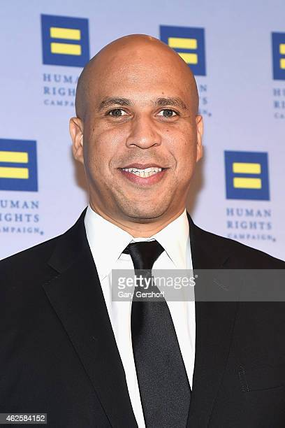 Junior United States Senator from New Jersey Cory Booker attends the 2015 Human Rights Campaign Greater New York Gala Dinner at The Waldorf=Astoria...