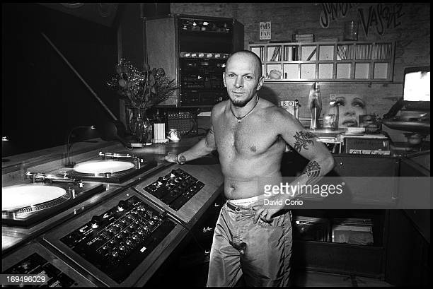 Junior Vasquez in his DJ booth at the Tunnel Club New York on 17 September 1995