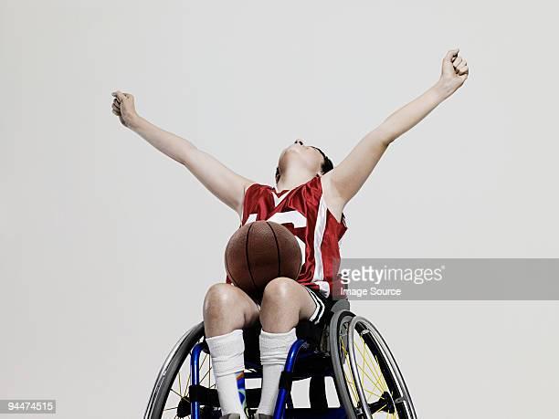 Junior wheelchair basketball player