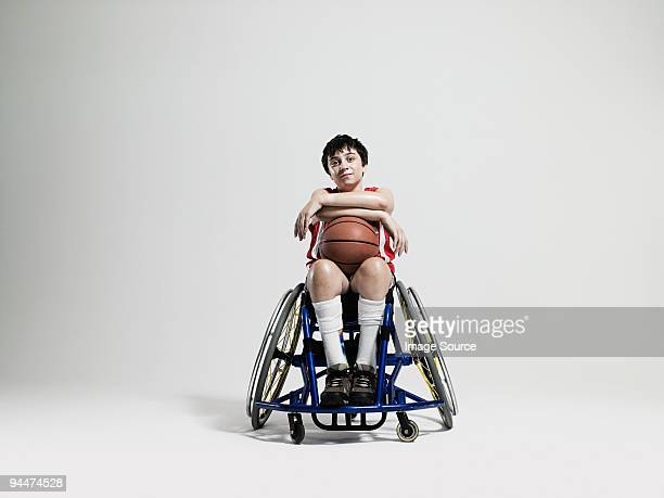 Junior wheelchair basketball player