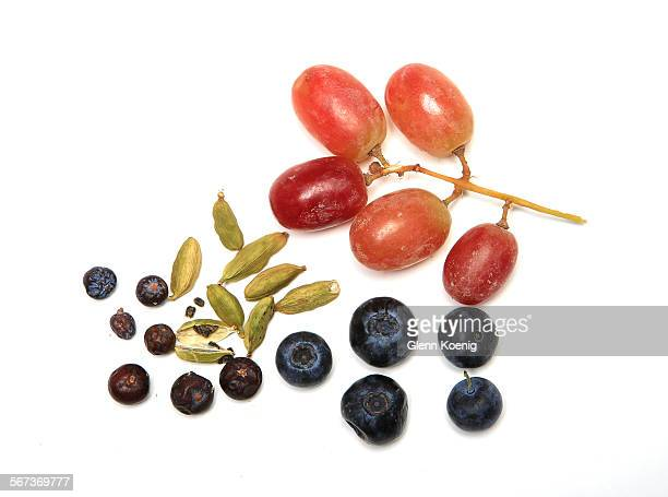 Juniper Berries cardamom blueberries and grapes are photographed at the Los Angeles Times studio on Dec 23 2014 For our Health cover we're doing a...