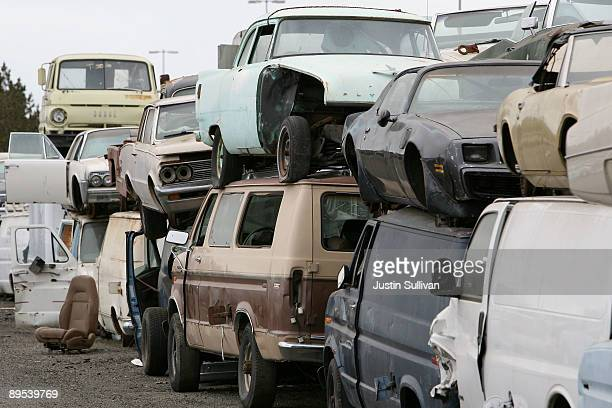salvage car stock photos and pictures getty images. Black Bedroom Furniture Sets. Home Design Ideas