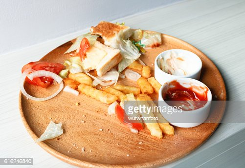 Junk food is wasted or spoiled food and other refuse : Foto de stock