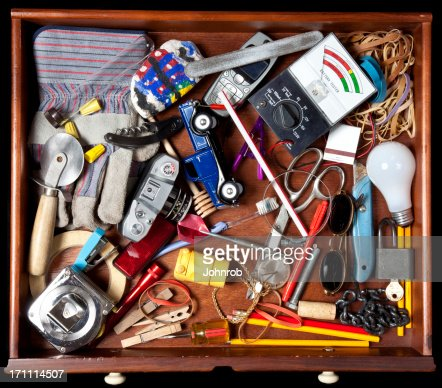 Junk in a drawer