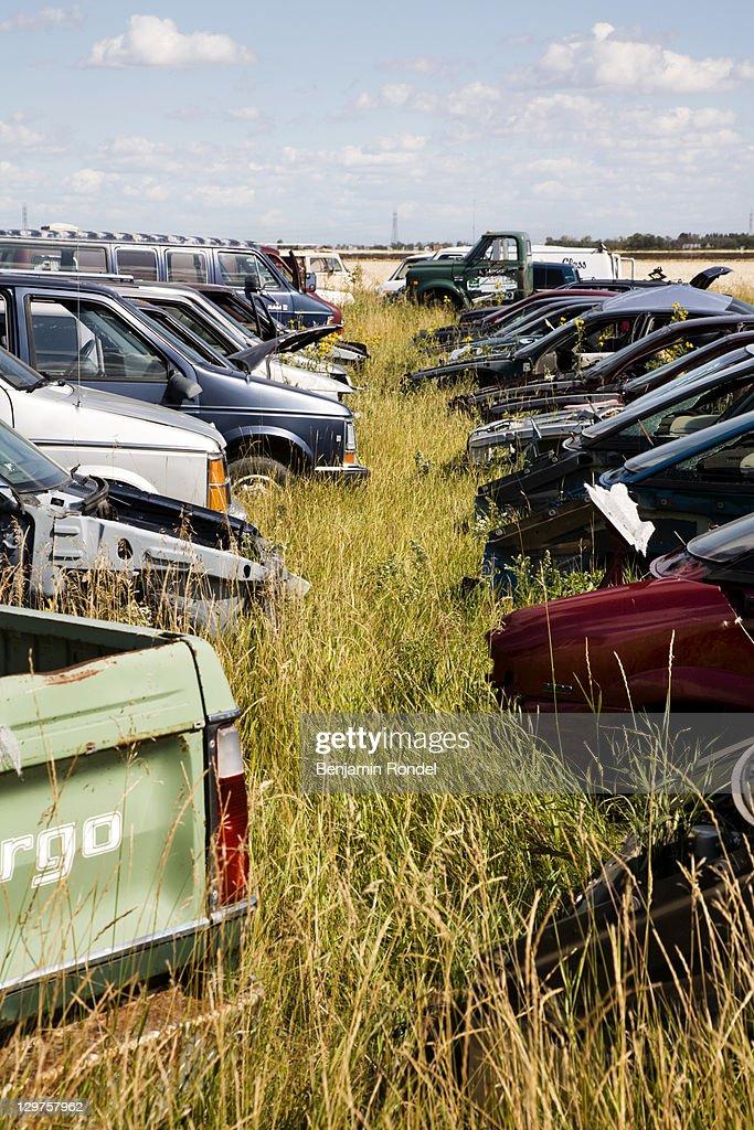 Junk yard : Stock Photo
