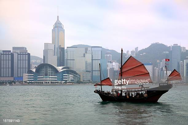 Junkboat in Hong Kong Harbour