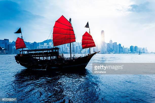 Junkboat von hong kong