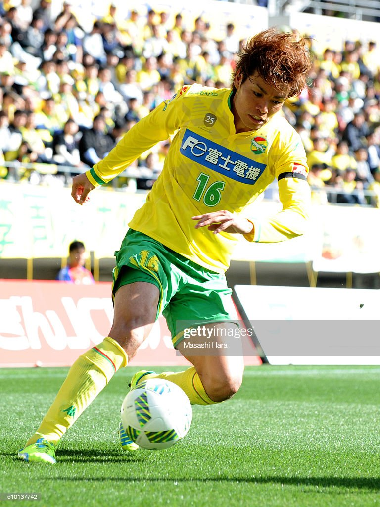 Junki Koike of JEF United Chiba in action during the preseason friendly match between JEF United Chiba and Kashiwa Reysol at the Fukuda Denshi Arena on February 14, 2016 in Chiba, Japan.