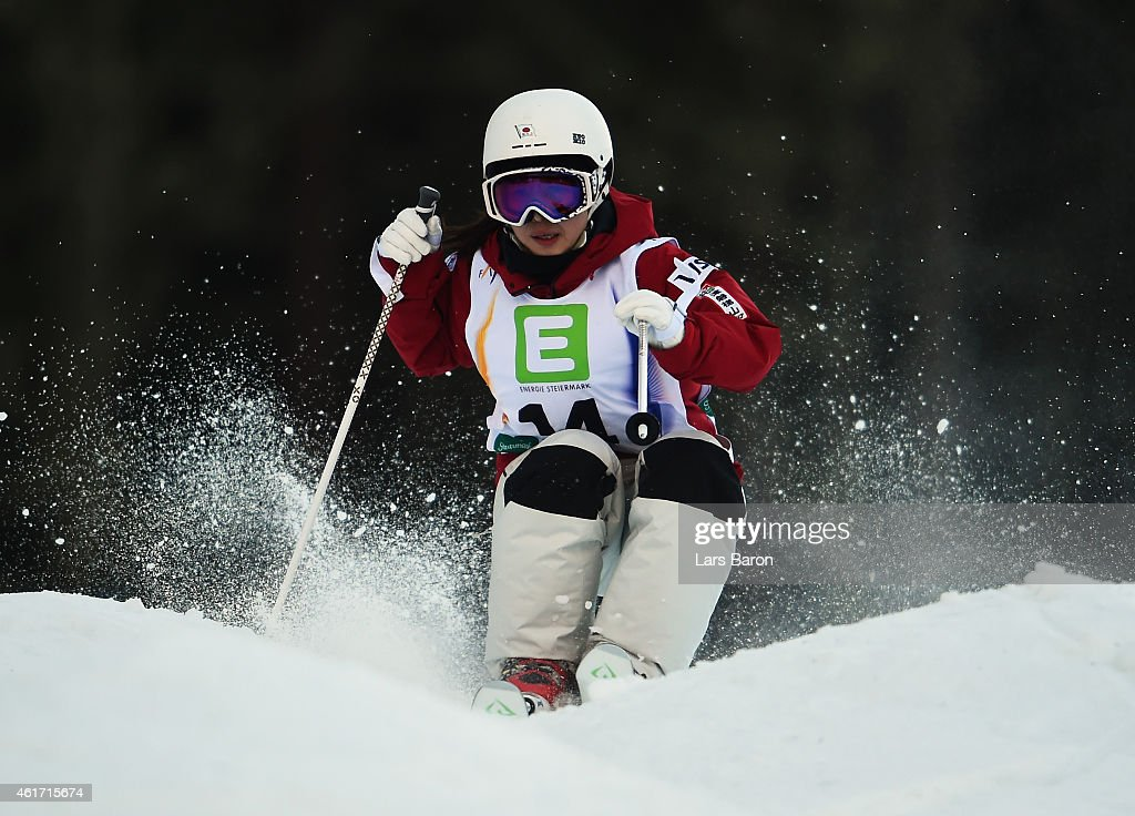 Junko Hoshino of Japan competes during the Women's Moguls Final of the FIS Freestyle Ski and Snowboard World Championship 2015 on January 18 2015 in...