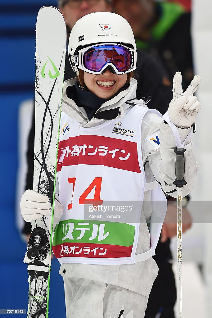 Junko Hoshino of Japan poses during the 2014 FIS Free Style Ski World Cup Inawashiro at Listel Inawashiro on March 1 2014 in Inawashiro Japan
