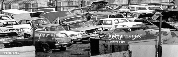 Junkyards such as this one are used profitably by professional auto thieves Six Denver detectives have been assigned full time to check records at...