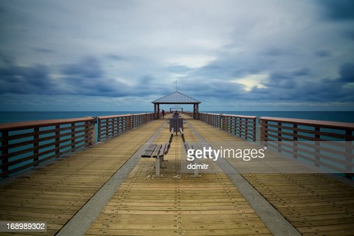 Juno beach fishing pier stock photo getty images for Juno fishing pier