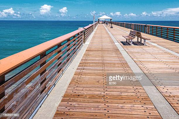 Juno beach stock photos and pictures getty images for Juno fishing pier