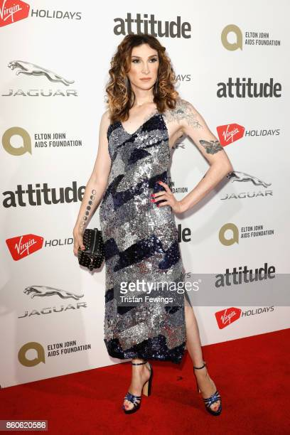 Juno Dawson attends the Virgin Holiday's Attitude Awards 2017 at The Roundhouse on October 12 2017 in London England
