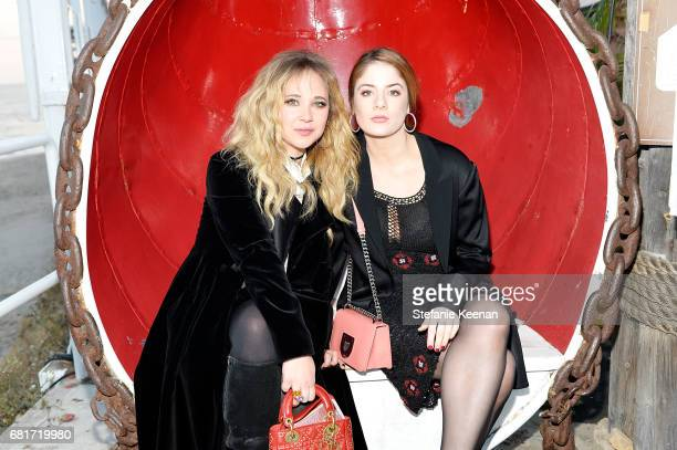 Juno Temple and Emily Tremaine attend Christian Dior Cruise 2018 Welcome Dinner at Gladstone's Malibu on May 10 2017 in Malibu California
