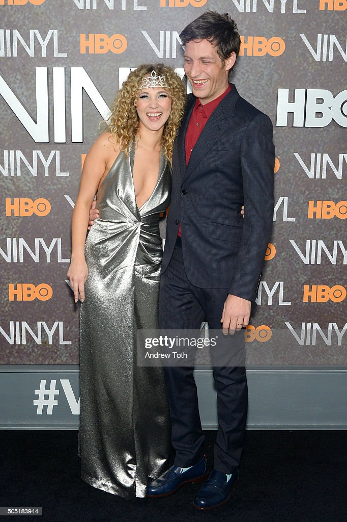 Juno Temple and James Jagger attend the 'Vinyl' New York premiere at Ziegfeld Theatre on January 15, 2016 in New York City.
