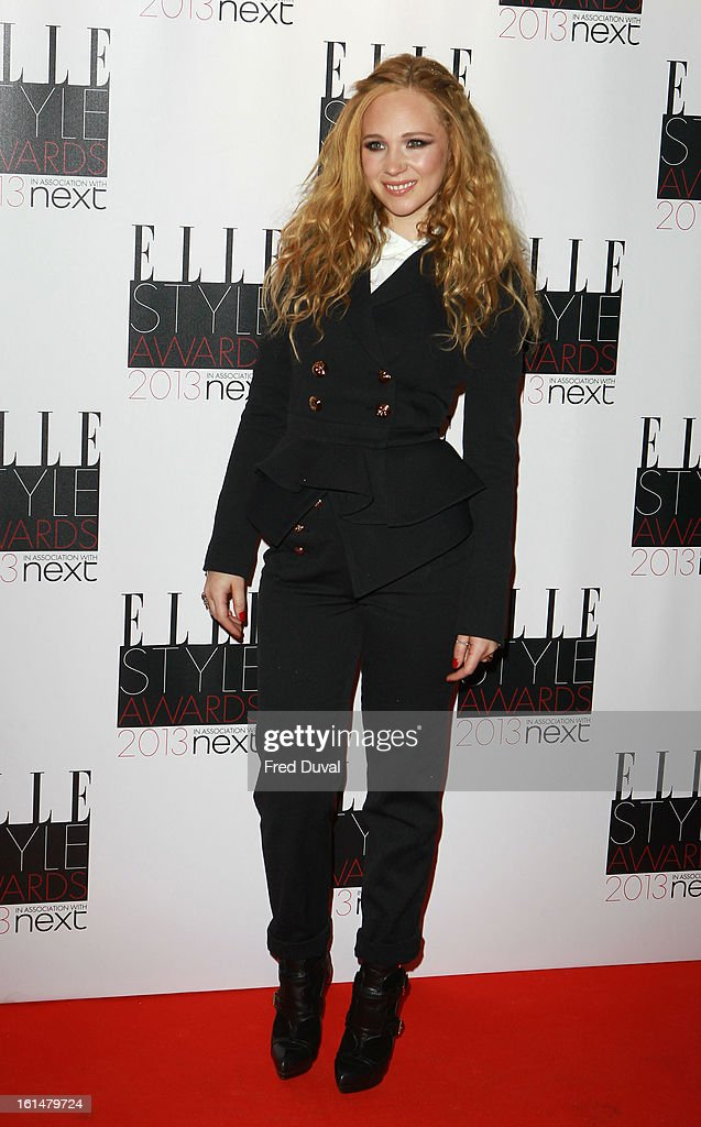 Juno Temple attends Elle Style Awards Outside Arrivals on February 11, 2013 in London, England.