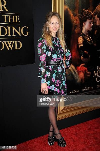 Juno Temple attends 'Far From The Madding Crowd' New York special screening at The Paris Theatre on April 27 2015 in New York City