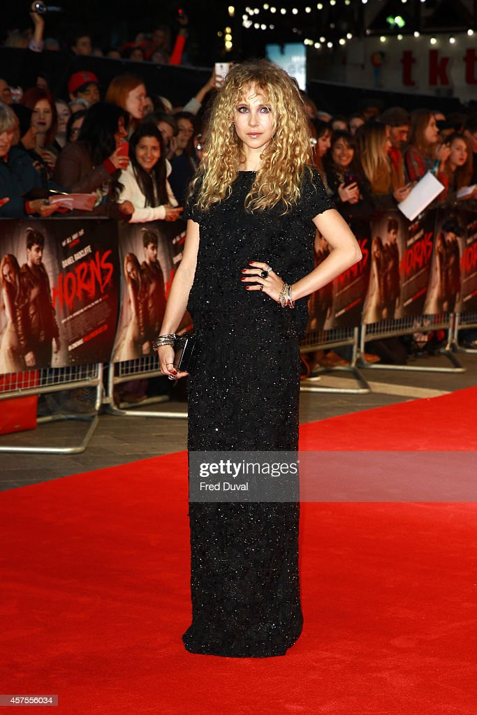 Juno Temple attends the 'Horns' premiere at Odeon West End on October 20 2014 in London England