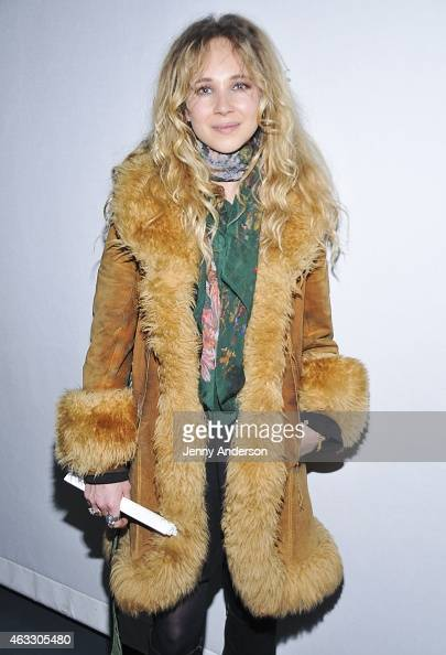 Juno Temple attends the Rachel Antonoff Presentation during MercedesBenz Fashion Week Fall 2015 at Professional Childrens School on February 12 2015...