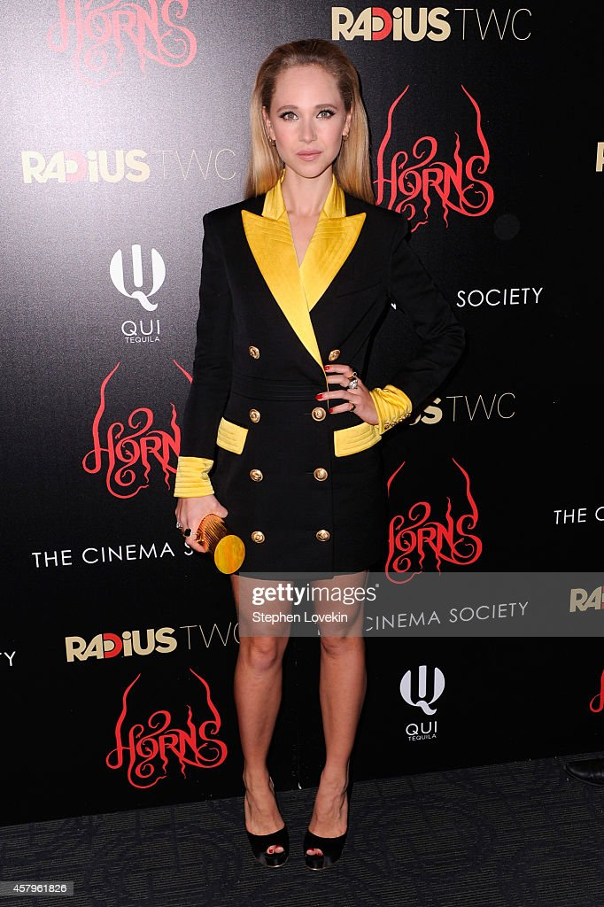 Juno Temple attends the RADiUS TWC and The Cinema Society New York Premiere of 'Horns' at Landmark Sunshine Cinema on October 27 2014 in New York City