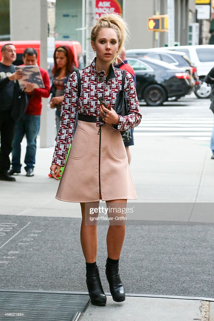 Juno Temple is seen on October 28 2014 in New York City