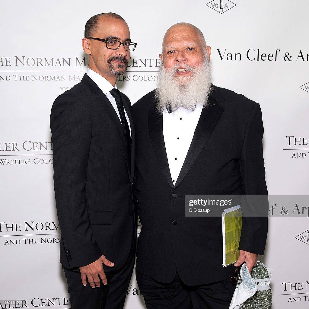 Junot Diaz (L) and Samuel Delany attend the 2013 Norman Mailer Center gala at the New York Public Library on October 17, 2013 in New York City.