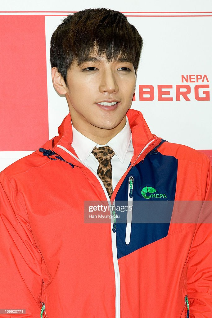 Junsu of South Korean boy band 2PM attends a promotional event for the NEPA History Show 2013 'ISENBERG' Launching Show at COEX on January 22, 2013 in Seoul, South Korea.