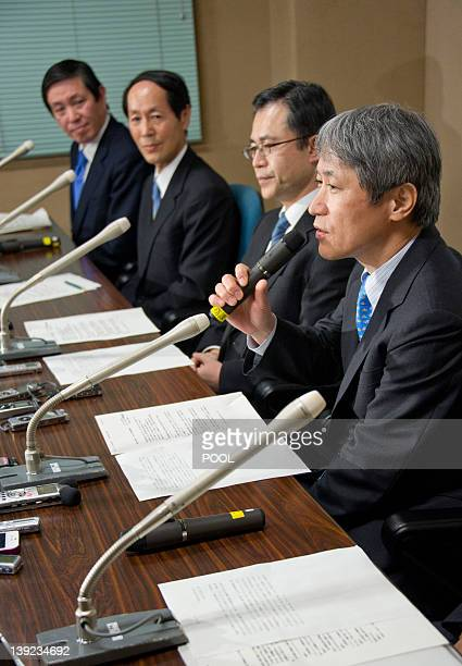 Juntendo Hospital surgeon Atsushi Amano speaks to the press after the successful heart bypass surgery on Japanese Emperor Akihito at the University...