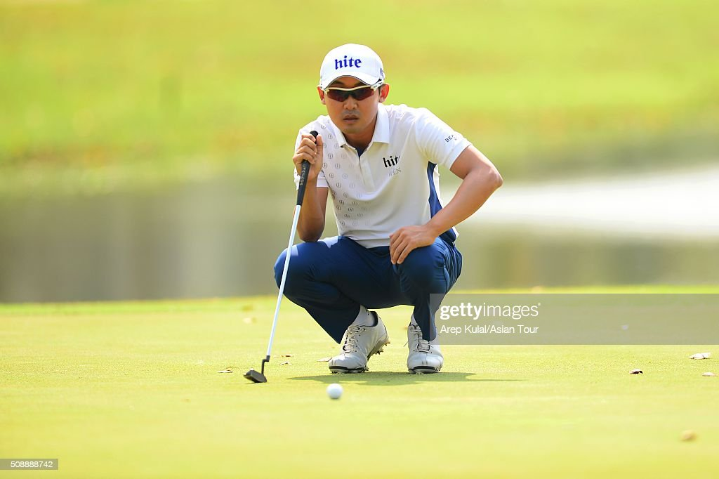 Junwon Park of Korea pictured during the final round of the Leopalace21 Myanmar Open at Royal Mingalardon Golf and Country Club on February 7, 2016 in Yangon, Myanmar.