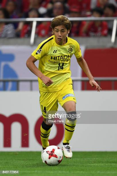Junya Ito of Kashiwa Reysol in action during the JLeague J1 match between Urawa Red Diamonds and Kashiwa Reysol at Saitama Stadium on September 9...