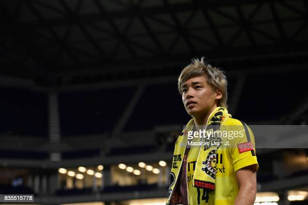 Junya Ito of Kashiwa Reysol looks on after his side's 10 victory in the JLeague J1 match between Gamba Osaka and Kashiwa Reysol at Suita City...