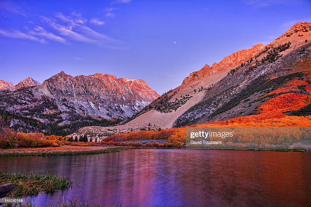 Jupiter above North Lake : Stock Photo