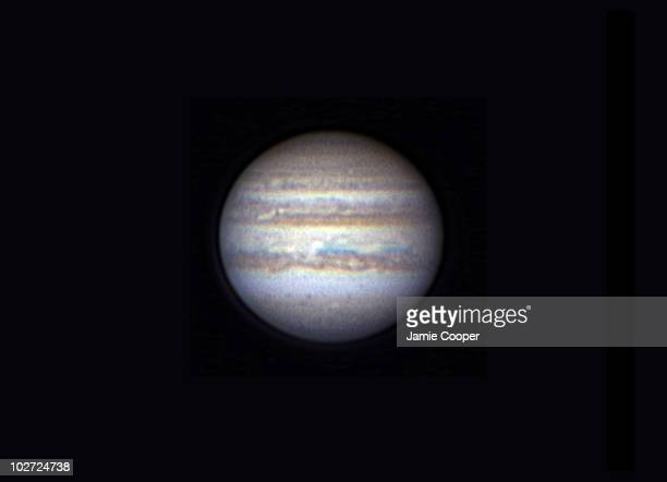 Jupiter This image of Jupiter was captured on 24th April 2004 at 2125 hrs UT The image was captured using a webcam attached to 180cm...