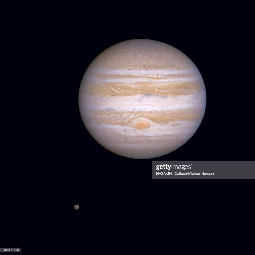 Jupiter with its satellites Europa and Callisto