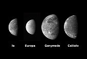 This montage shows the best views of Jupiter's four large and diverse Galilean satellites as seen by the Long Range Reconnaissance Imager (LORRI) on the New Horizons spacecraft during its flyby of Jup