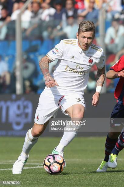 Juraj Kucka of Milan during the Serie A match between FC Crotone and AC Milan at Stadio Comunale Ezio Scida on April 30 2017 in Crotone Italy
